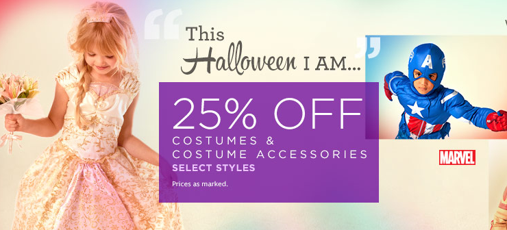 disney store Disney Store: 25% Off Halloween Costumes and Accessories With FREE Shipping