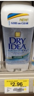 Dry Idea Deodorant Printable Coupon + Walmart and Upcoming CVS Deals