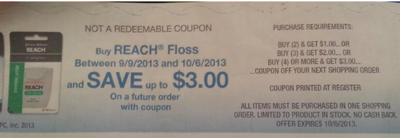 kroger catalina Better Than FREE Reach Floss at Kroger