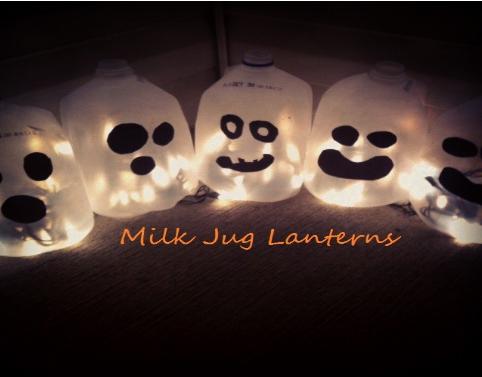 milk jug DIY Milk Jug Lanterns for Halloween