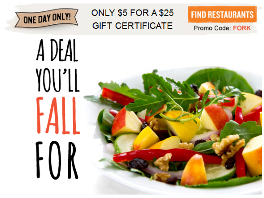 restaurant Restaurant.com: $25 Gift Certificate for $5 + Other Restaurant Deals