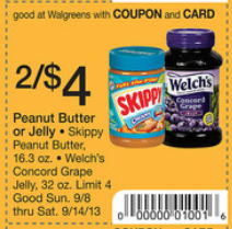 skippy Skippy Peanut Butter Printable Coupon + Walgreens Scenario