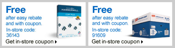 staples1 FREE Hammermill Copy Paper and Staples Multipurpose Case Paper PLUS Scott Tissue Stock Up Price