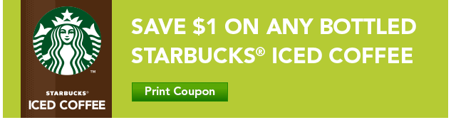 starbucks iced coffee printable coupon as low as free at cvs