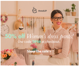 thred up ThredUP: 50% Off Womens Dress Pants