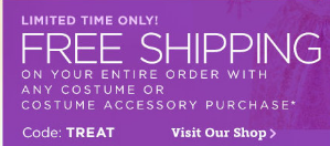 treat Disney Store: 25% Off Halloween Costumes and Accessories With FREE Shipping