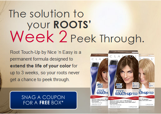 vocalpoint Vocalpoint: FREE Coupon for Root Touch Up Nice n Easy Hair Color