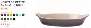 Le Creuset - Product Information- Heritage Petite Au Gratin Dish 2013-10-29 12-20-15