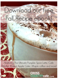 Recipe eBook FREE Fall Coffee Recipe Book and 20% Off Coupon