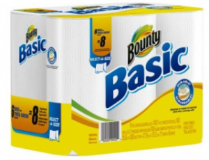 Bounty Basic Paper Towel Select-A-Size Rolls (6 ct) As Low As $4.82 ($0.80 Per Roll)