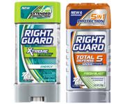 Brand New Offer! Right Guard® Xtreme™ or Total Defense™ 5 Antiperspirant or Deodorant