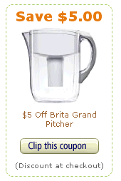 brita coupon $5 off a Brita Grand Pitcher Coupon on Amazon