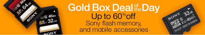 gold box deal 10 23 Save Up to 60% Off Sony Flash Memory and Mobile Accessories (Today Only)