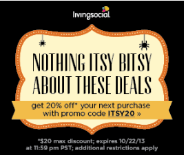 living social Living Social: 20% Off Coupon Code (Today Only)