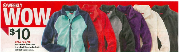 Target: Women's Merona Fleece Jackets for Just $6.67 (Plus Iron Man Mask Deal)