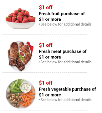 You probably won't find a coupon attached to your bananas, but you could find a produce coupon attached to other products at your local grocery store. Look for fruit coupons on boxes of cereal and look for vegetable coupons on packages of meat, poultry, and fish.