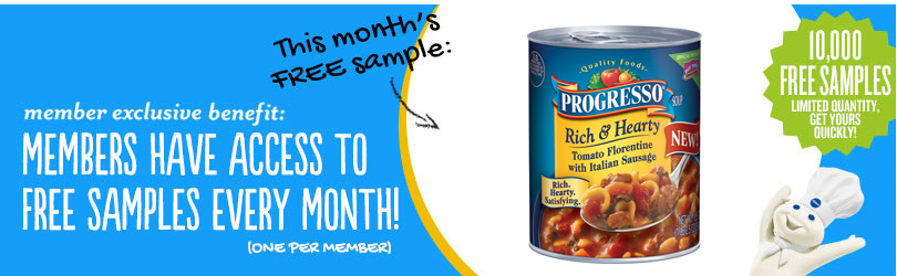 pillsbury Pillsbury Members: FREE Sample of Progresso Soup
