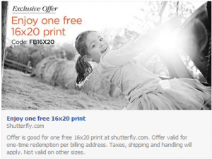 Shutterfly: FREE 16×20 Print (Today Only)