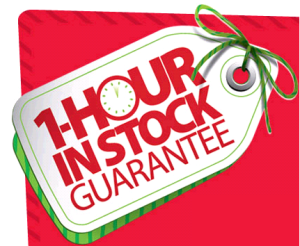 1 Hour In Stock Guarantee