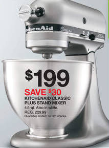 Black Friday 2013: KitchenAid Stand Mixer Under $200!