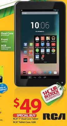 Black Friday: 7 Dual Core RCA Tablet $49.99!