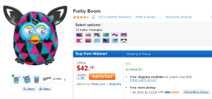 Furby Boom Kids Electronics Walmart.com  300x140 Skip the Black Friday Rush and Get Furby for only $42.16!