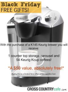 FREE Keurig Kcups and a FREE Kcup Storage WYB a K145 Keurig Brewer