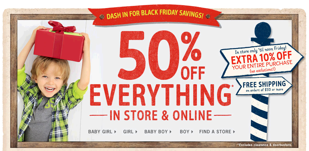 Kids Clothes Kids Apparel Baby and Kids Clothing OshKosh B gosh 50% Off Everything at Osh Kosh Bgosh!