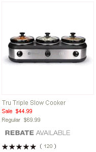 Kitchen Dining Kohl s Triple Slow Cooker Possibly $17.50 After Rebate With Kohls Card (Originally