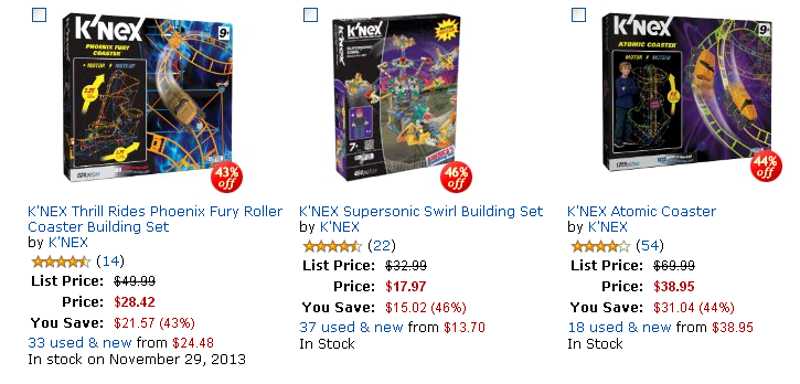 Save on K NEX Roller Coasters