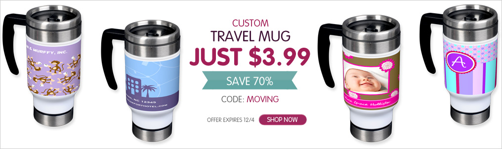 Travel head winter2013 Custom Travel Mug Just $3.99 (Normally $13.99!)