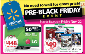 Walmart Pre-Black Friday Sale – FULL List Of Items For 11/22!!
