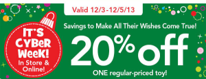 20 off toys r us