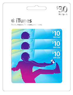 30 iTunes Gift Card Pack Just 25
