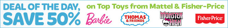 50 off mattel and fisher price