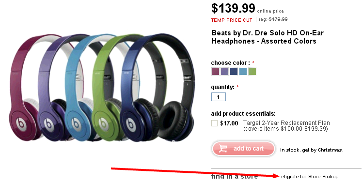 Dr Dre Beats Store Pickup
