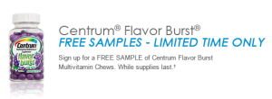 FREE Centrum Sample