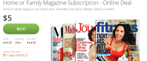 Home or Family Magazine Subscription Deal of the Day   Groupon