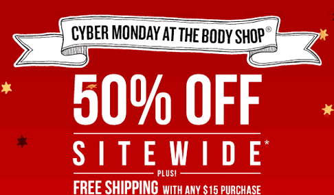 50% Off the Body Shop For Cyber Monday!