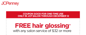 JCP Hair Glossing Coupon