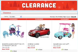 Mattel Clearance Plus Code