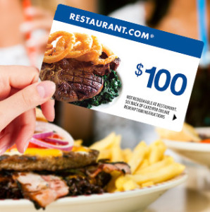 Restaurant Gift Card 298x300 $100 Restaurant.com Gift Card for $19.99!