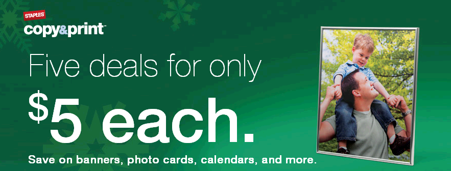 Staples 5 for 5 5 Deals For $5 at Staples! (Photo Calendar, Cards, and More!)