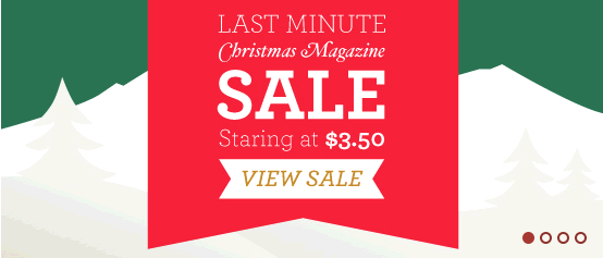 last minute magazine sale