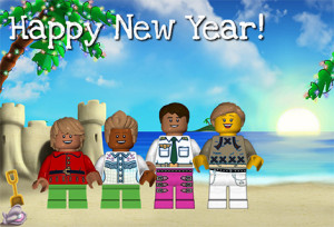 lego holiday card 300x204 Create Your Own LEGO Minifigure Holiday Card for Free