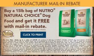 rebate dog food