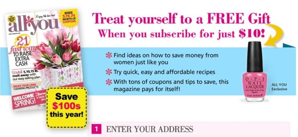 All You Subscription and FREE OPI Nail Polish
