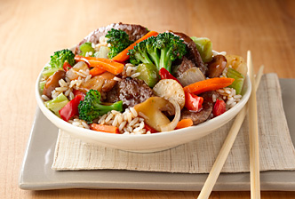 Beef and Broccoli stir fry Dinner Idea: Stir fry With Homemade Fortune Cookies