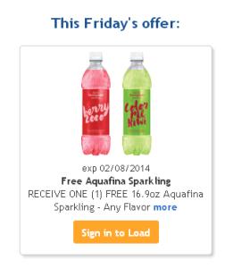 FREE Aquafina Sparkling Water