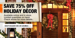 Home Depot Christmas Clearance